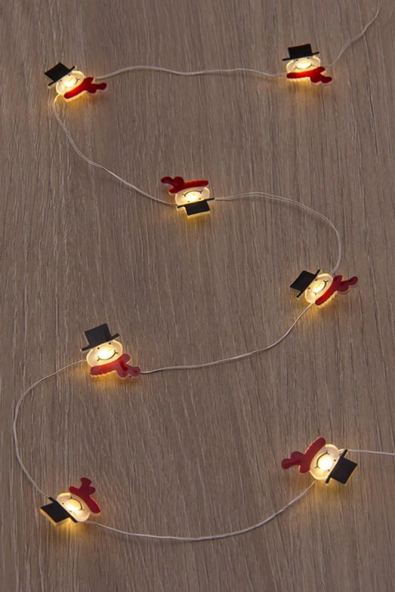 Karácsonyi fények vidám figurákkal