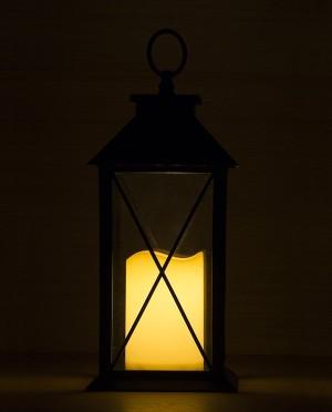 Karácsonyi fények pislákoló LED lámpással