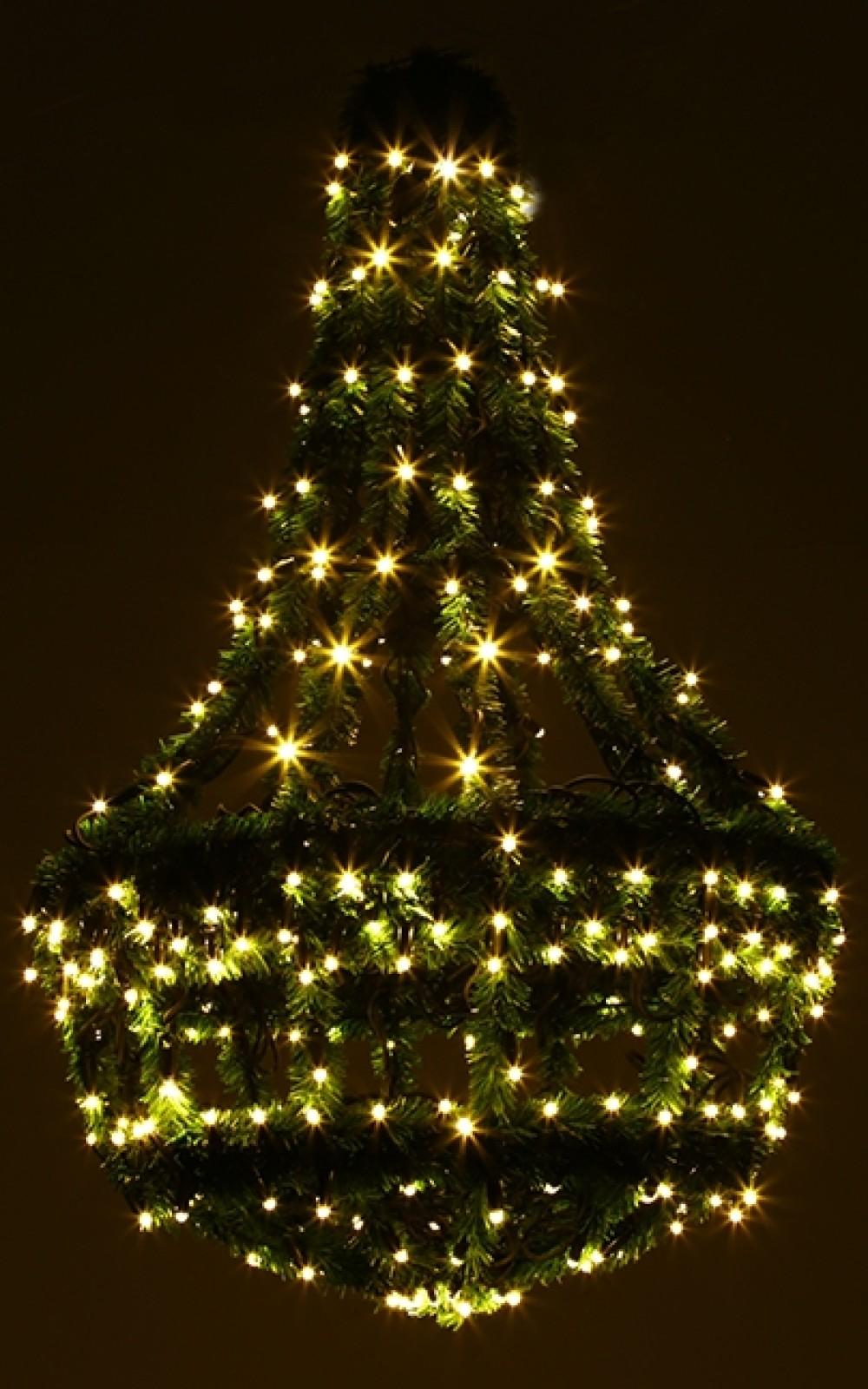Karácsonyi világítás-Műfenyő csillár