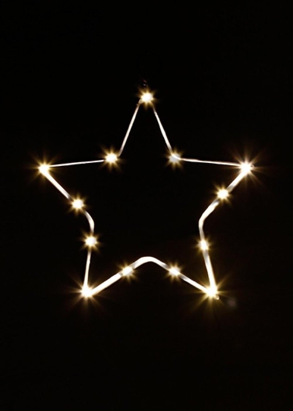LED csilag 14 cm, időzítővel