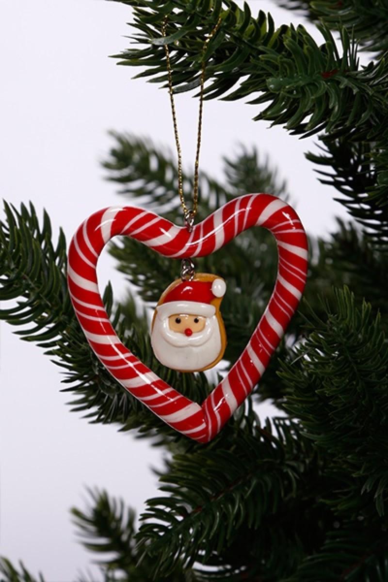 Karácsonyfa dekoráció télapóval