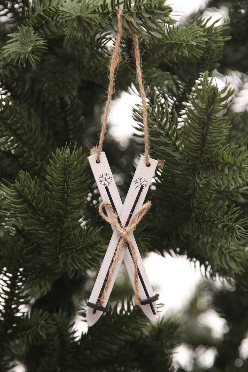 Fehér színű fa sílécek-11 cm-3 darab