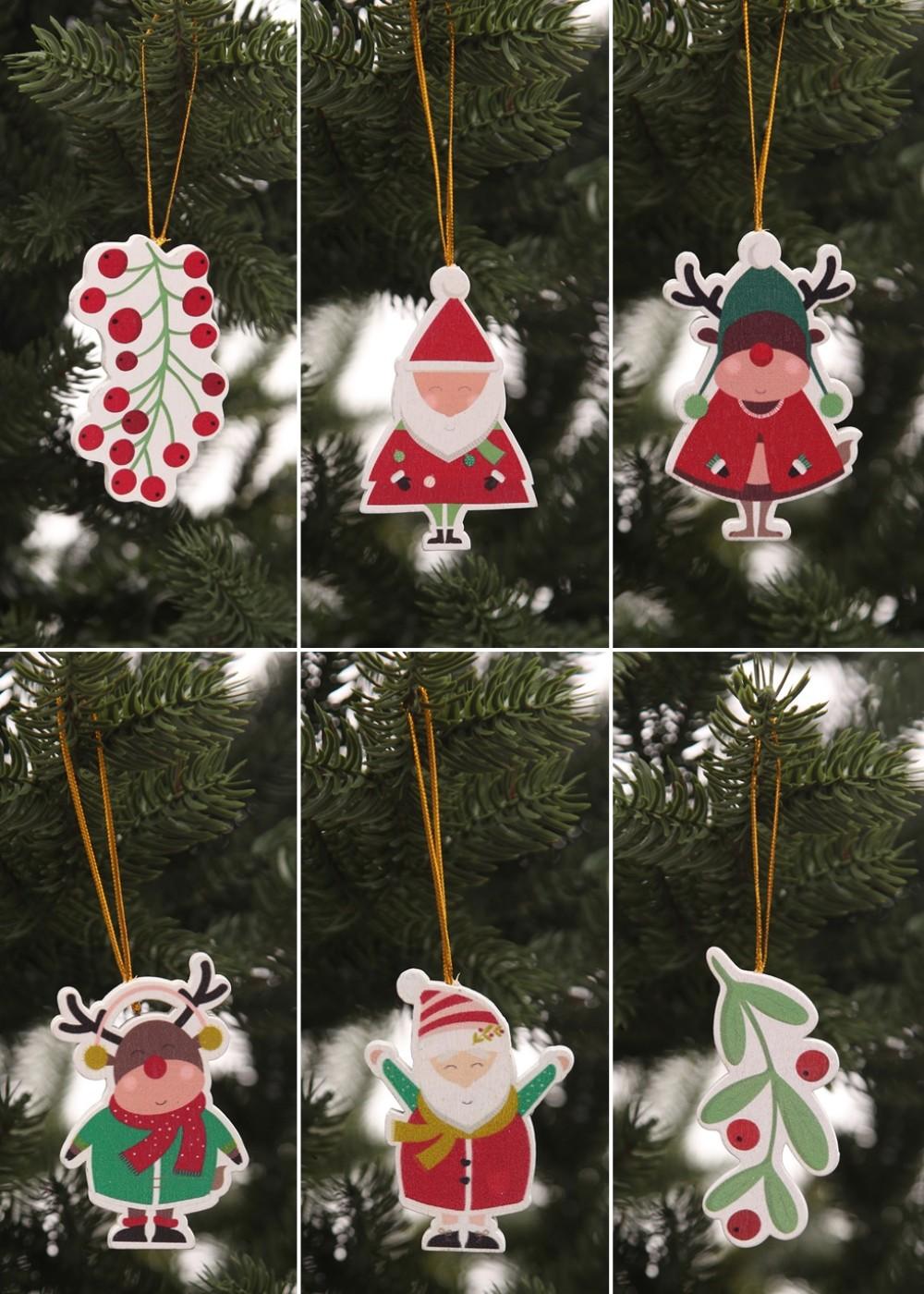 Karácsonyfadíszek vidám figurákkal