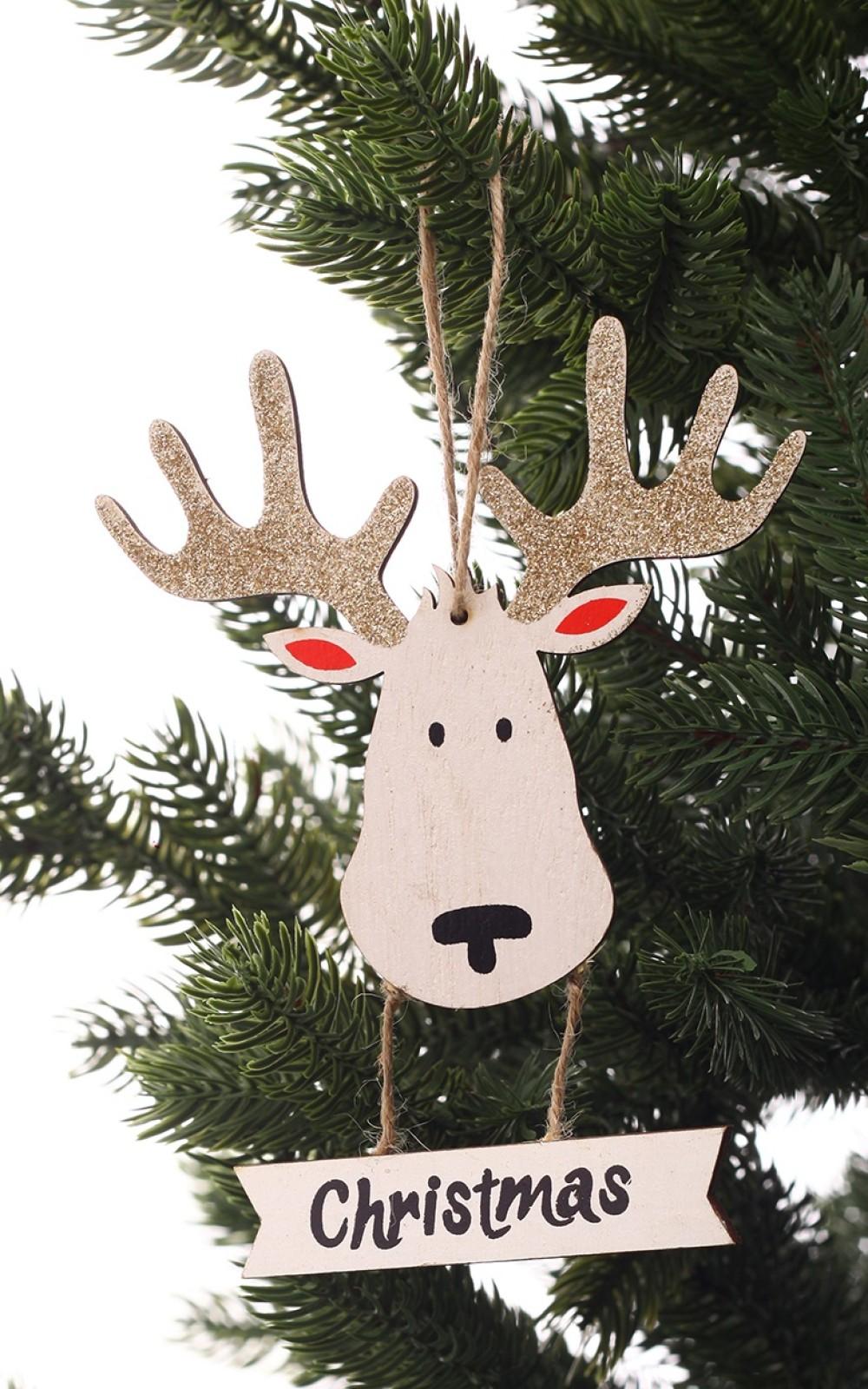 Karácsonyi dekoráció-Fából készült rénszarvas