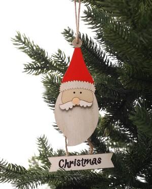 Karácsonyi dekoráció-Fából készült Mikulás