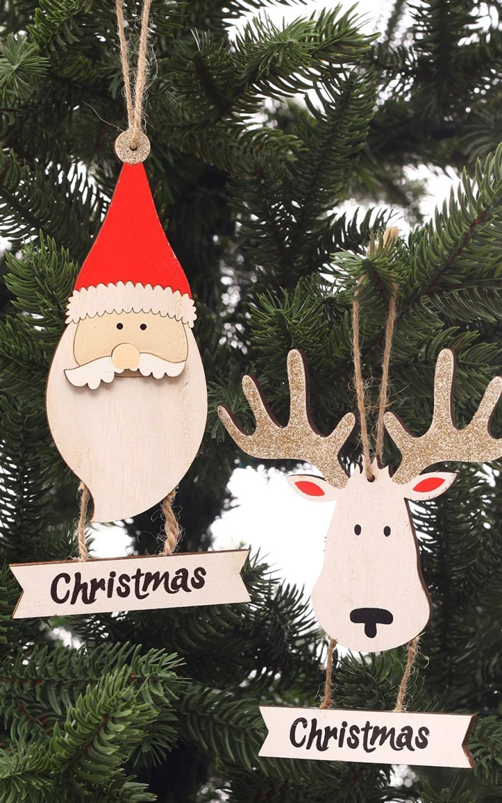Fából készült karácsonyi dekoráció
