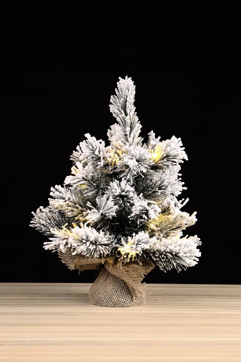 Asztali havas műfenyő-Dinsmore 45 cm, LED