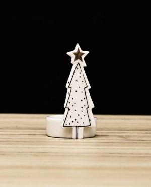 Karácsonyi dekoráció-Fenyőfás mécsestartó