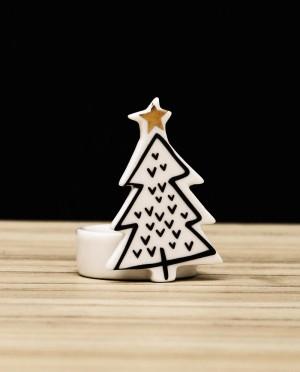 Karácsonyi dekoráció-Kerámia mécsestartó