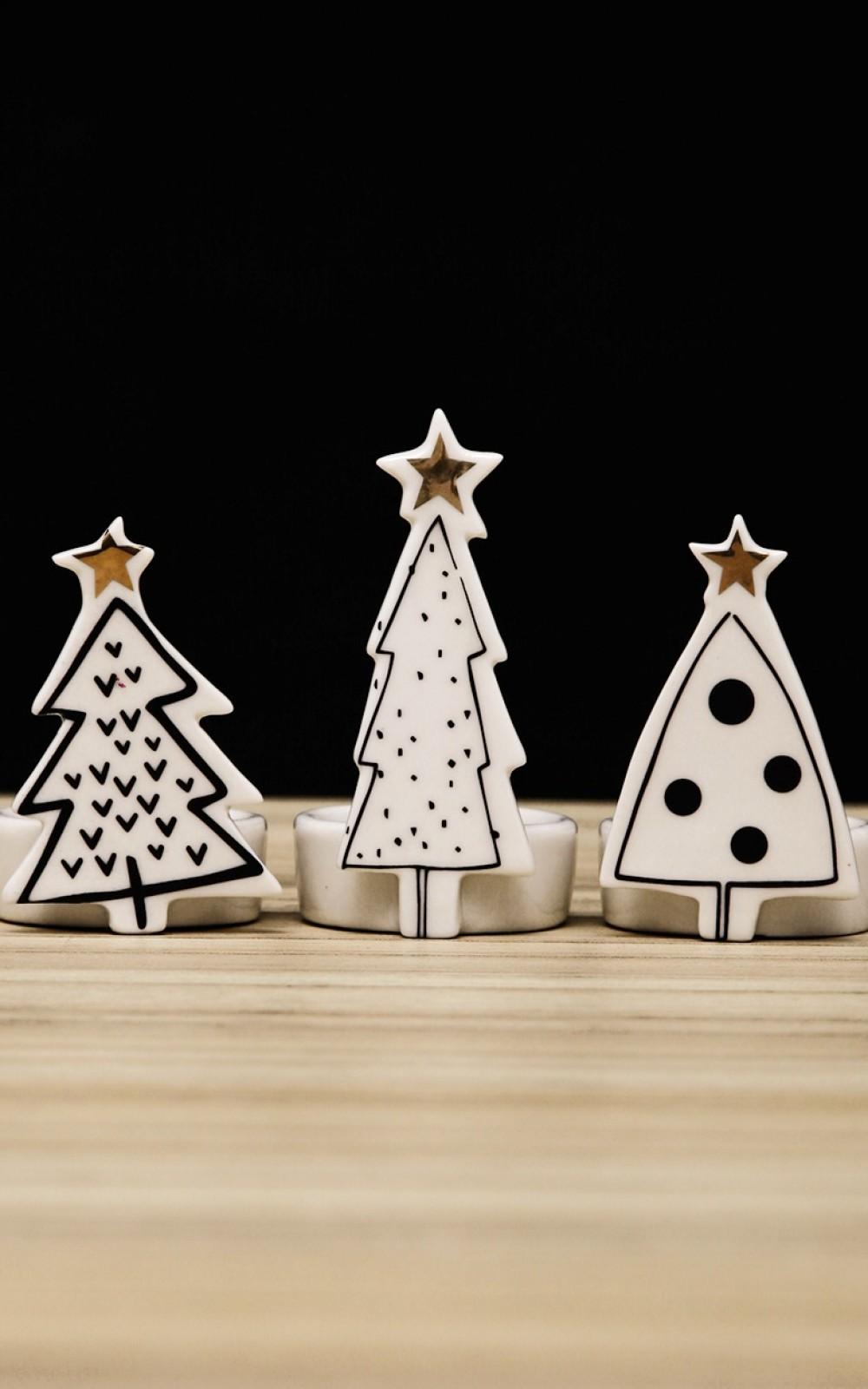 Karácsonyi dekoráció-Fenyőfás mécsestartók