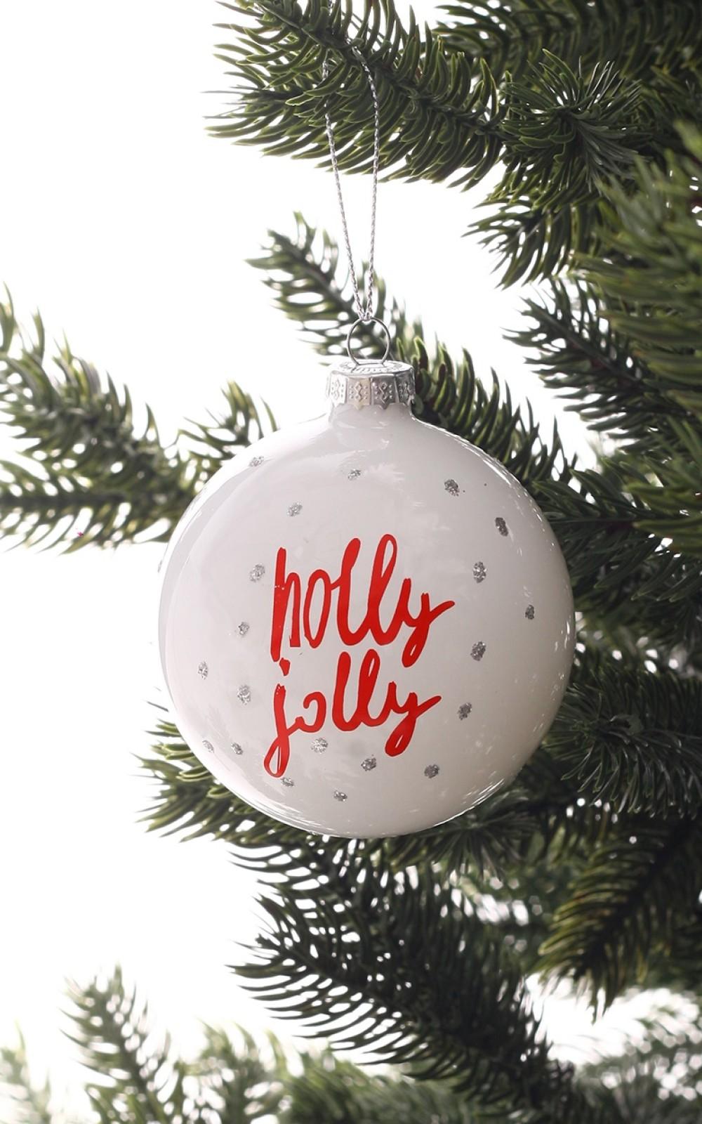 Karácsonyfadísz-Holly Jolly