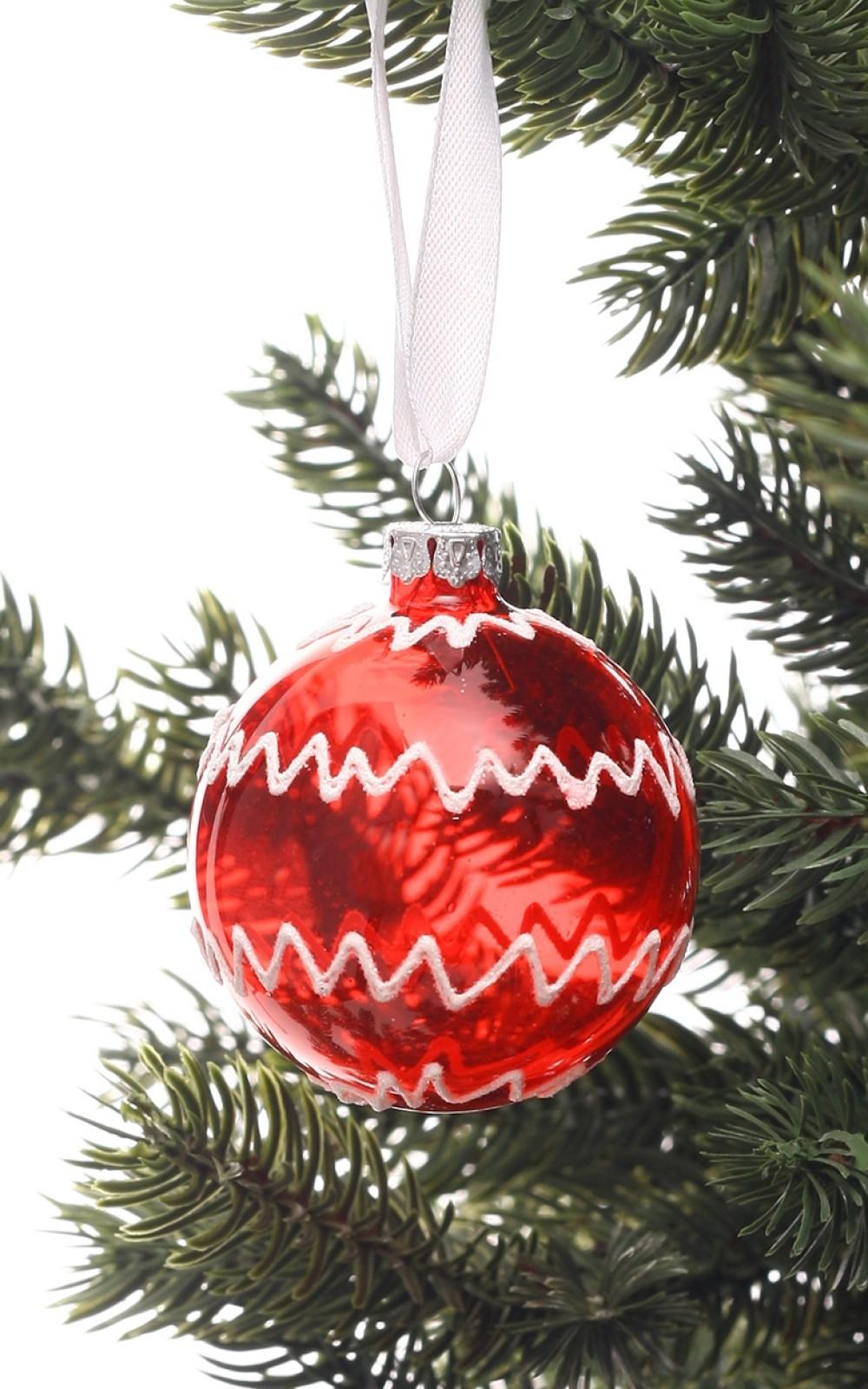 Karácsonyfadísz-piros üveggömb