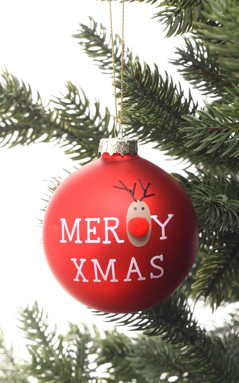 Karácsonyfadísz Rudolffal