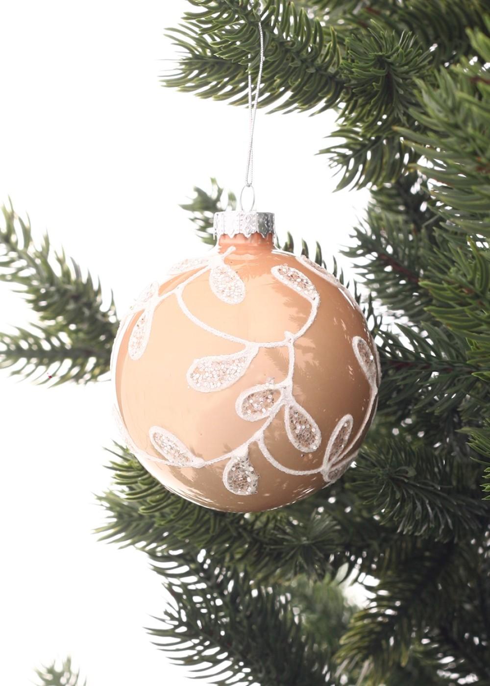 Rózsaarany színű karácsonyi dísz