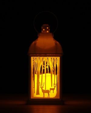 LED lámpás pislákoló gyertyával