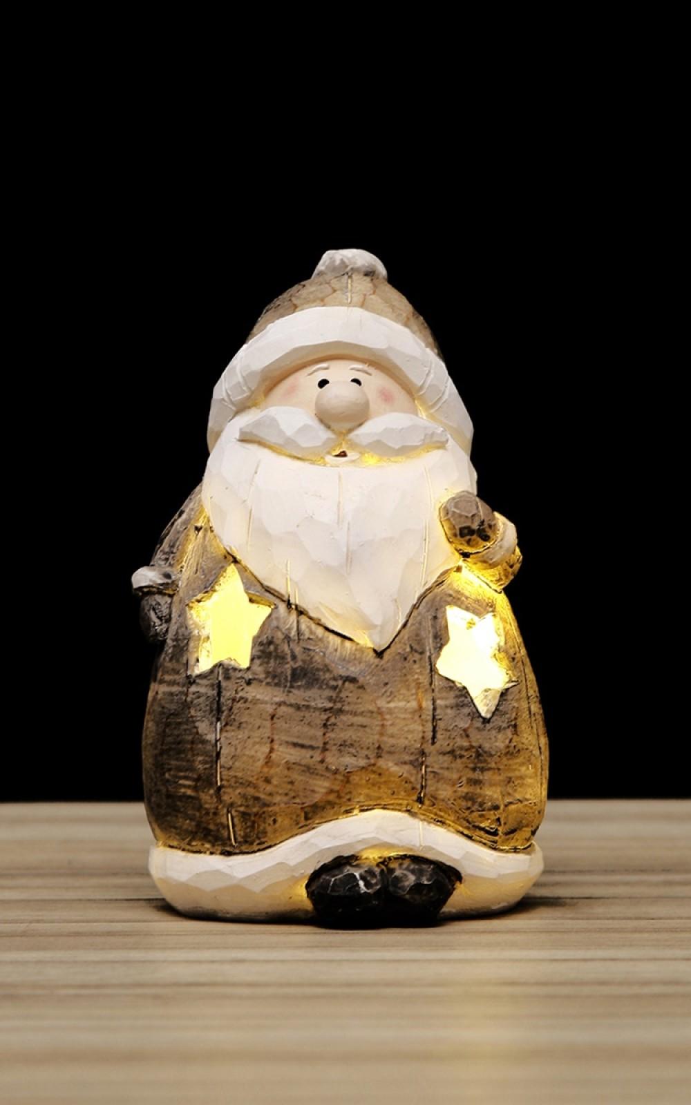Karácsonyi dekoráció-LED-es Mikulás