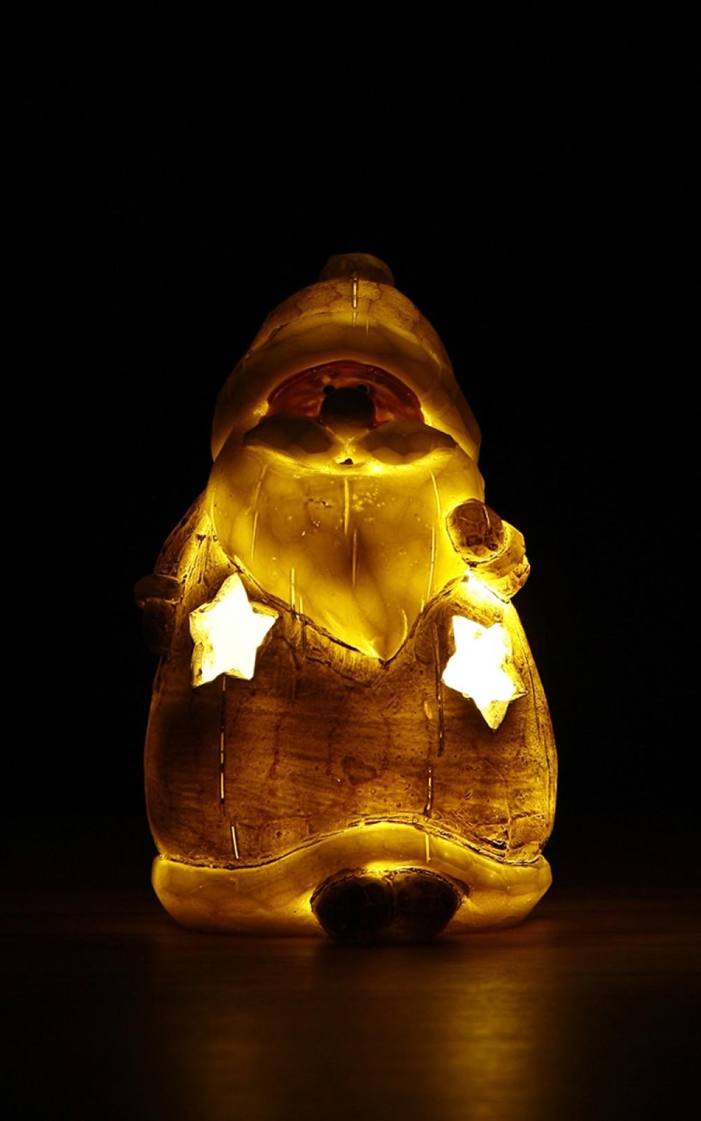 Karácsonyi világító dekoráció-LED-es Mikulás