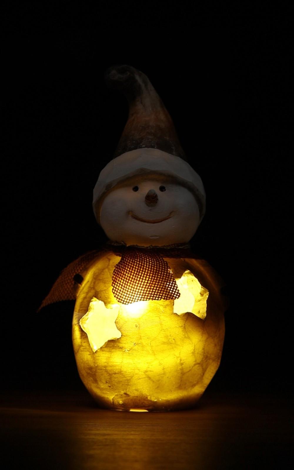 Világító LED-es hóember