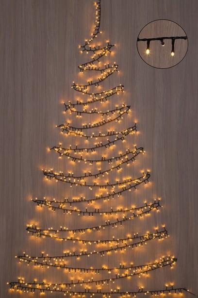 Karácsonyfa fénygirland, 800 LED-16 m