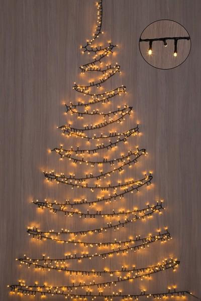 Karácsonyfa fénygirland, 370 LED-7,4 m