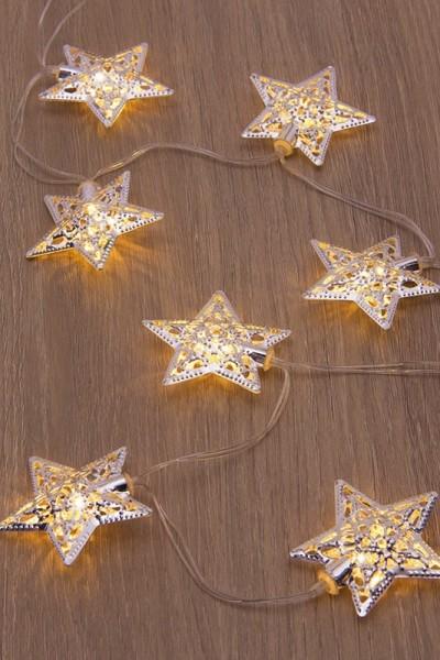 LED fényfüzér csillagokkal