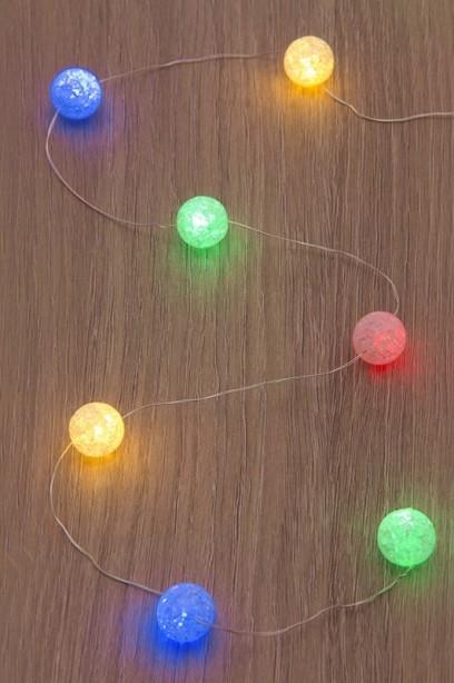 Fényfüzér színes fényű LED golyókkal