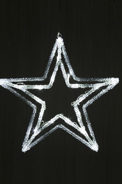 LED csillag 38 cm, időzítővel