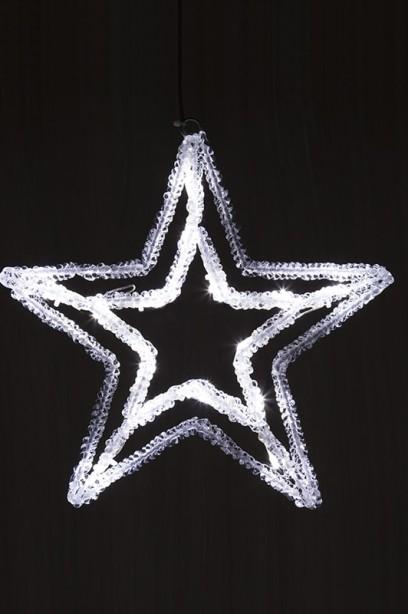 LED csillag 28 cm, időzítővel