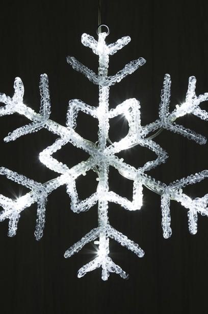 LED hópehely 38 cm, időzítővel