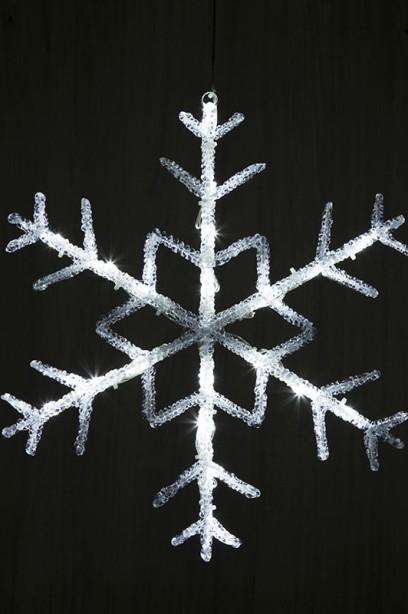 LED hópehely 28 cm, időzítővel