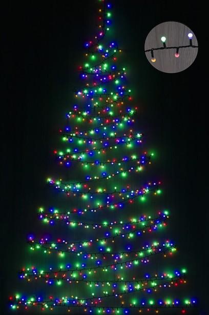 Gyöngy fényfüzér, színes 400 LED-10,4 m