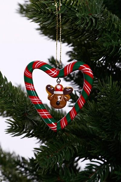 Karácsonyfadísz-rénszarvas